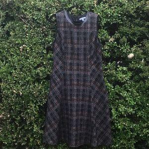 Nordstrom plaid wool blend dress. 16